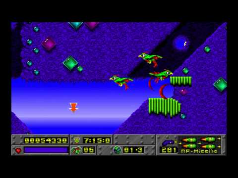 Jazz Jackrabbit Episode 1: Turtle Terror Diamondus Secret level 1994 Epic Megagames HD