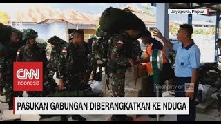 Pasukan Gabungan Diberangkatkan ke Nduga, Papua