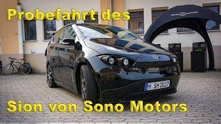 Sono Motors Sion Probefahrt Nürnberg ( Solar Elektroauto )