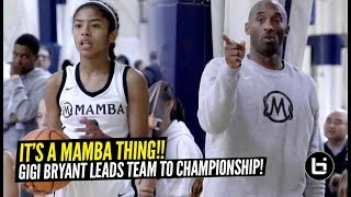 Kobe Bryant Coaches His Daughter Gigi & Mackenly Randolph To Championship Game!! LADY MAMBAS!!!