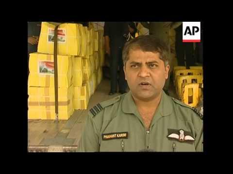 India flies emergency aid to Myanmar cyclone victims