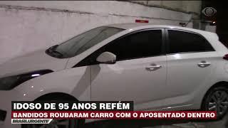 Bandidos roubam carro com idoso de 95 anos dentro