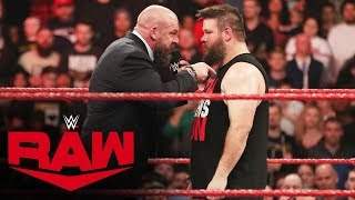 Triple H's attempt to lure Kevin Owens to NXT leads to brawl: Raw, Nov. 18, 2019