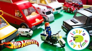 Cars for Kids   Hot Wheels and Fast Lane Playmobil Police Playset - Fun Toy Cars for Kids