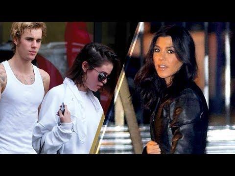AWKWARD! Selena Gomez & Justin Bieber Run into Kourtney Kardashian...at CHURCH!