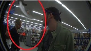 GHOST CAUGHT ON TAPE IN WALMART!