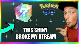 NO WAY! THIS RARE SHINY BROKE MY STREAM PLAYING POKEMON GO!