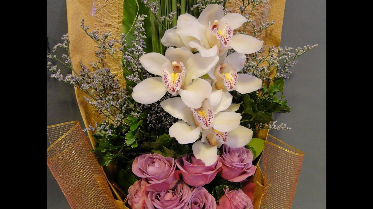 b18 flower bouquet packing demonstration
