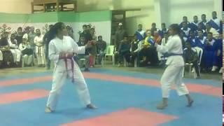 (মারামারি করতে গিয়ে কাপর খুলে গেলো) Bangladesh female karate fight (বাংলাদেশি মেয়েদের কারাতে)