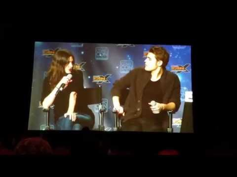 Phoebe Tonkin and Paul Wesley at Conic Con FanX 2015