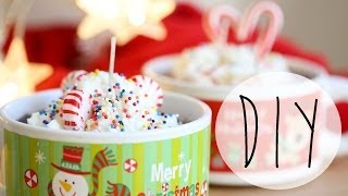 DIY Candle Making | Hot Cocoa Candles | Holiday GIFT IDEAS | ANN LE