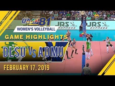 UAAP 81 WV: DLSU vs ADMU  Game Highlights   February 17 2019