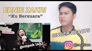 [SINGER REACTS] Ernie Zakri - Ku Bersuara (Acoustic Version)