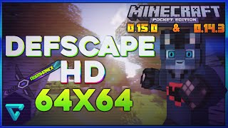 LA MEJOR TEXTURA DEFSCAPE PARA MINECRAFT PE 0.15.0 Y 0.14.3 CON ITEMS EN HD 64x64!-30Likes!!