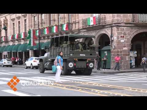 Recorre convoy de militares el Centro de Morelia