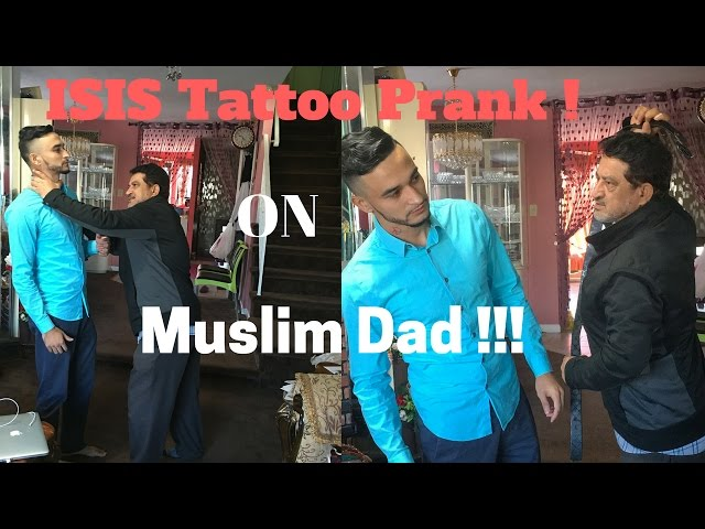 ISIS Tattoo Prank on Muslim Dad!!!