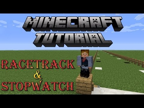 Minecraft Horse Tutorial How to Build a Racetrack & Stopwatch Timer