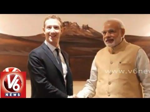 Facebook CEO Mark Zuckerberg met PM Narindra Modi and Central Minister Ravishankar Prasad