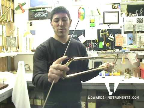 Christan Griego shows us how to properly clean and lube a trombone slide.