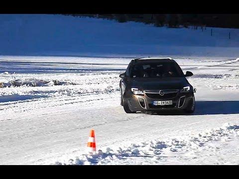 Opel Insignia Sports Tourer OPC ice test Opel OPC models on snow Autogefühl Autoblog