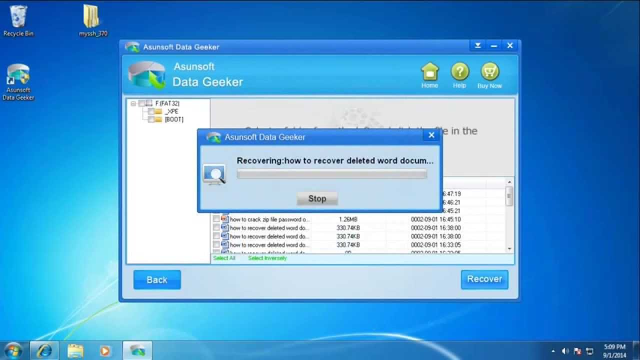 how to recover delete files off usb