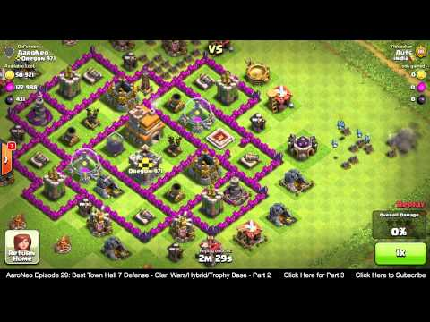 BEST Town Hall Level 7 (TH7) Defense Strategy - Clan Wars/Hybrid/Trophy Base (Clash of Clans) Part 2