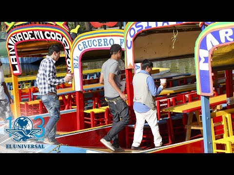 Regulan alcohol en trajineras de Xochimilco