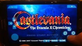 """PPSSPP Gold - """"Castlevania: The Dracula X Chronicles"""" on PSP Emulator for Android (Samsung Note II)!"""
