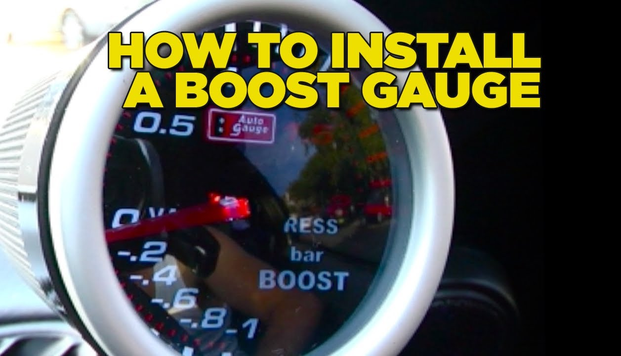 How To Install Boost Gauge Diy Youtube