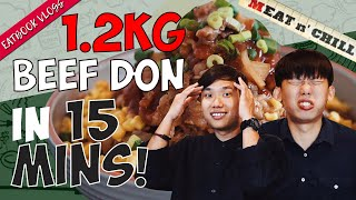 Finish This 1.2KG Beef Don in 15 Mins and it is FREE! | Eatbook Challenges | EP 8