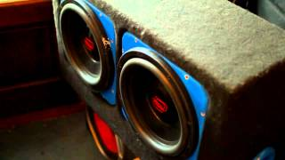 "Digital Designs 1500 12""s subwoofers GETTING DOWN!"