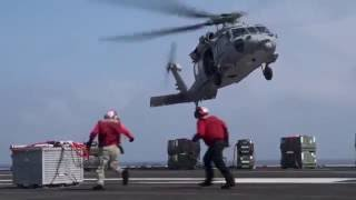 USS Dwight D Eisenhower: Ordnance Onload with USNS Arctic - June 27, 2016