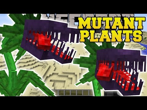 Minecraft: MUTANT PLANTS MOD (EVIL PLANTS THAT EAT EVERYTHING!) Mod Showcase