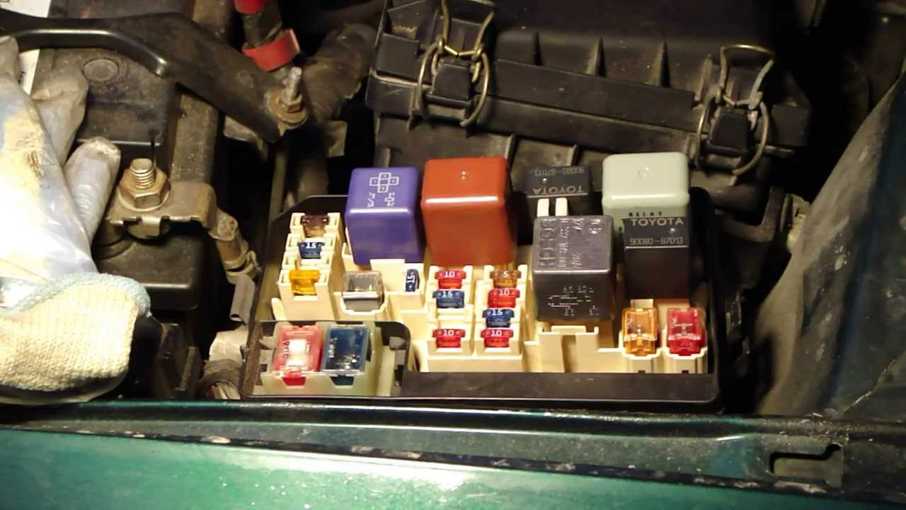 how to locate fuse boxes places in toyota corolla youtube 2005 Toyota Corolla Fuse Box Location 95 Toyota Corolla Fuse Box Diagram