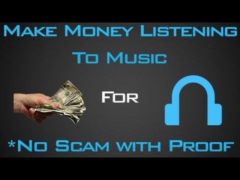 Make Money Listening To Music! (Not A Scam!)