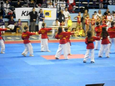 Taekwondo Dance Kids Group (TKD Galeb, Belgrade, Serbia) - Demo tour on 4th Serbia Poomsae KWON Open Image 1