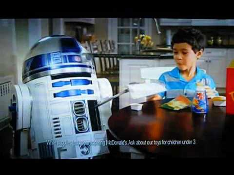 mcdonalds 2010 star wars happy meal tv commercial youtube