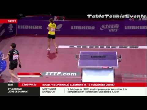 Liu Shiwen Vs Zhu Yuling: 1/2 Final [WTTC 2013 Paris]
