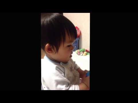 One Year Old Girl Saying Apple video