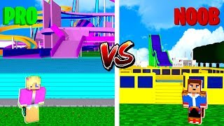 Minecraft NOOB VS PRO : WATERPARK in Minecraft!
