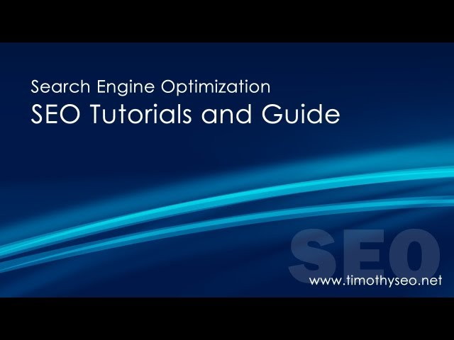 1 - Search Engine Optimization Tutorial - Getting Your Site Listed In Google and Bing (Part 1 of 3)