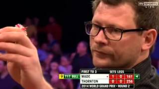 James Wade hit 9-Darter vs Robert Thornton World Grand Prix 2014