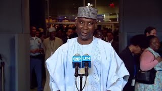 Tijjani Muhammad Bande addresses media for the first time as General Assembly President