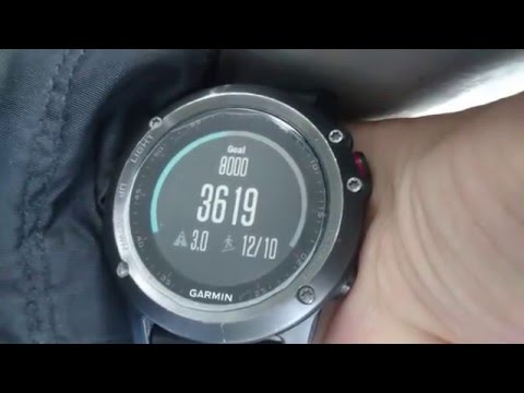 Garmin Fenix 3 floors climbing feature demo with latest software firmware update 6.90