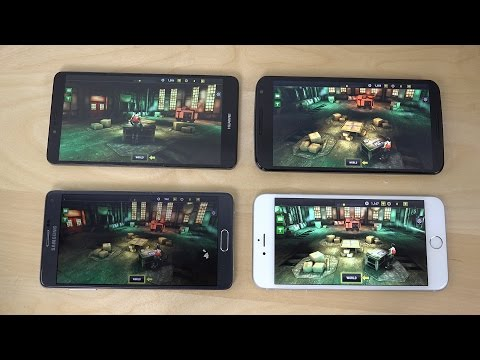 Nexus 6 vs. iPhone 6 Plus vs. Samsung Galaxy Note 4 vs. Ascend Mate 7 Dead Trigger 2 Gameplay Review