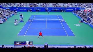 算一下Nadal 與Djokovic一共對抽了54球,Longest Rally-54shot! (2013 US OPEN CHAMPIONSHIP) H153826