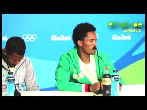 Ethiopia: Rio 2016 - Press Conference With Feyisa Lilesa After His Political Gesture Aug. 21, 2016