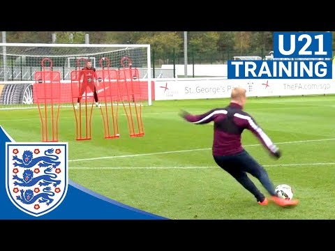 England U21s free-kick practice | Inside Training