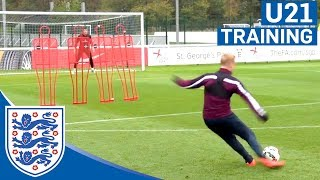 England U21s free-kick practice | Inside Training