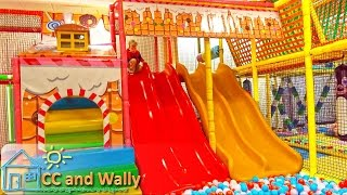 Indoor Playground Play Center Fun for Kids playground balls slides play centre room spiderman vlog
